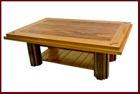 cooper coffee table cocobolo and jatoba