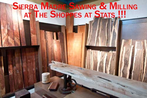 Sierra Madre Sawing and Milling at The Shopees at Stats 2014 Lie Nielsen Event
