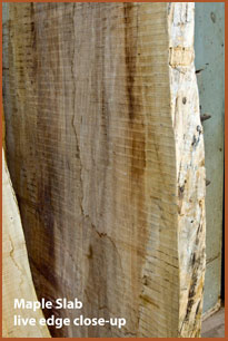 western big leaf maple live edge slab
